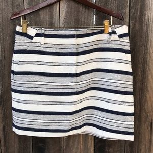 LOFT Tweed Striped Skirt